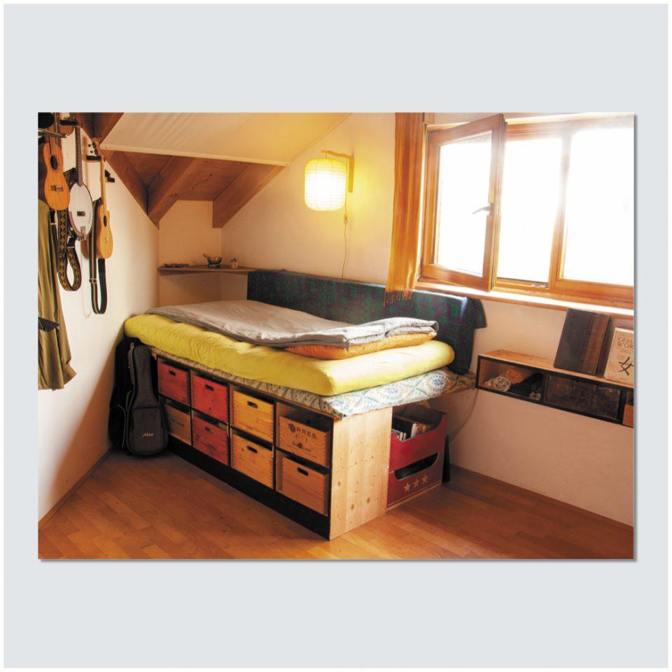 Raum, Möbel und Objekte